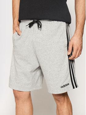 adidas adidas Sportiniai šortai Essentials 3-Stripes French Terry DU7831 Pilka Regular Fit
