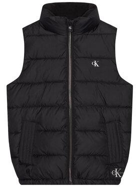 Calvin Klein Jeans Calvin Klein Jeans Vestă Essential Puffer IB0IB00651 Negru Regular Fit