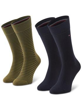 Tommy Hilfiger Tommy Hilfiger Комплект 2 чифта дълги чорапи мъжки 100001496 Зелен