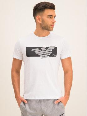 EA7 Emporio Armani EA7 Emporio Armani T-Shirt 3HPT48 PJT3Z 1100 Λευκό Regular Fit