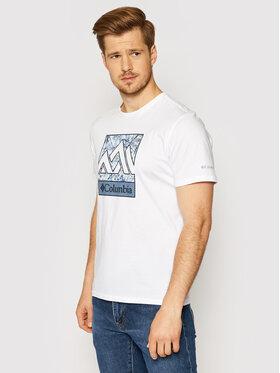 Columbia Columbia T-shirt Rapid Ridge Graphic 1888813 Bijela Regular Fit