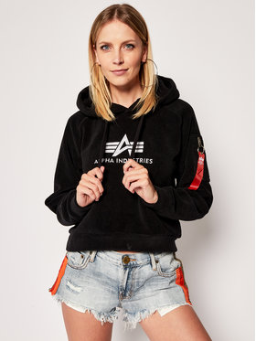 Alpha Industries Alpha Industries Fliso džemperis Fleece 128055 Juoda Regular Fit