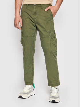 Superdry Superdry Pantaloni di tessuto Cargo M7010195A Verde Straight Fit
