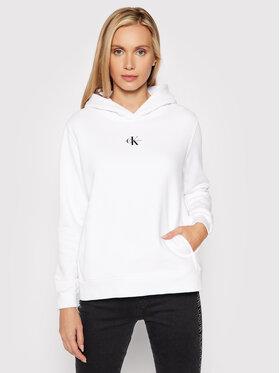 Calvin Klein Jeans Calvin Klein Jeans Majica dugih rukava J20J216958 Bijela Regular Fit