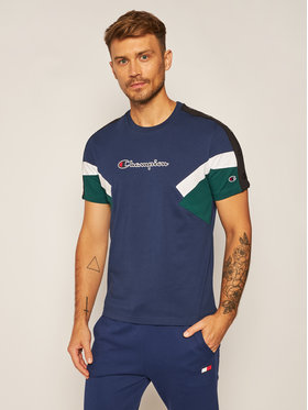 Champion Champion Marškinėliai Crewneck 214789 Tamsiai mėlyna Comfort Fit