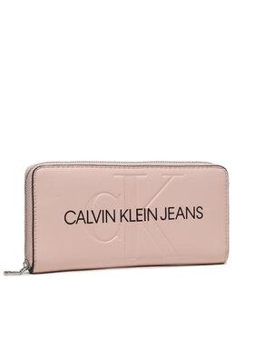 Calvin Klein Jeans Calvin Klein Jeans Didelė Moteriška Piniginė Sculpted Mono Z/A K60K608397 Rožinė