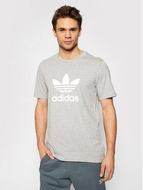 adidas adidas Marškinėliai adicolor Classics Trefoil GN3465 Pilka Standart Fit