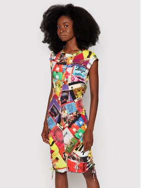 Desigual Desigual Ежедневна рокля Proclaim 21WWVK45 Цветен Slim Fit