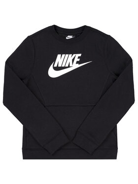 NIKE NIKE Pulóver Crew Club BV0785 Fekete Regular Fit