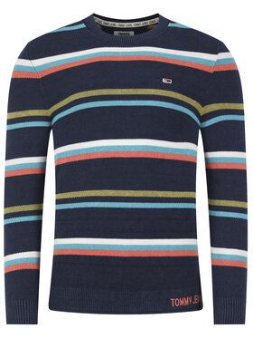 Tommy Jeans Tommy Jeans Megztinis LightWeight Stripe DM0DM08066 Tamsiai mėlyna Regular Fit