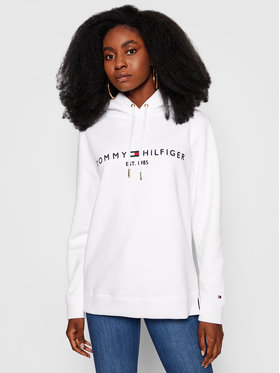Tommy Hilfiger Tommy Hilfiger Sweatshirt Heritage WW0WW31998 Weiß Regular Fit