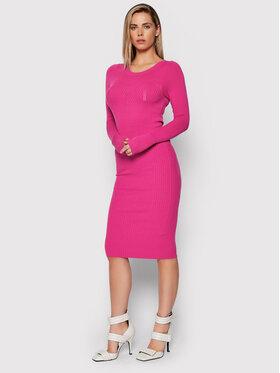 Liu Jo Liu Jo Džemper haljina CF1287 MA99E Ružičasta Slim Fit