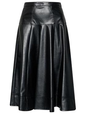 Imperial Imperial Spódnica skórzana GGB5ABC Czarny Regular Fit