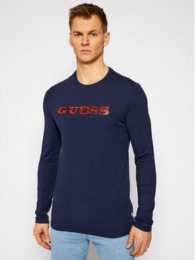 Guess Guess Marškinėliai ilgomis rankovėmis M1RI0A J1300 Tamsiai mėlyna Slim Fit