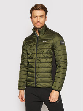 Calvin Klein Calvin Klein Vatovaná bunda Essential Side Logo K10K107335 Zelená Regular Fit