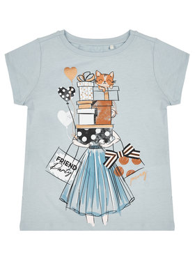 Primigi Primigi T-Shirt Feel Chic Today 45222506 Blau Regular Fit