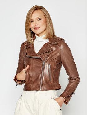 LaMarque LaMarque Veste en cuir Donna 1090 Marron Regular Fit