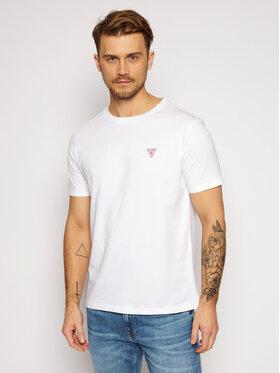 Guess Guess T-Shirt Crew Neck F0BI00 K8HM0 Biały Regular Fit