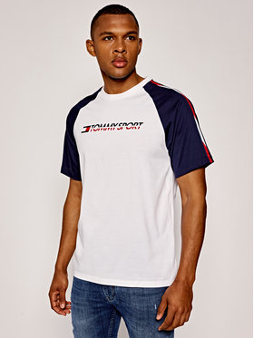 Tommy Sport Tommy Sport T-Shirt Logo S20S200196 Biały Regular Fit