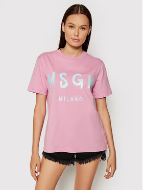 MSGM MSGM T-shirt 3141MDM510 217798 Ružičasta Regular Fit