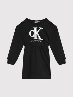 Calvin Klein Jeans Calvin Klein Jeans Ежедневна рокля Monogram IG0IG01028 Черен Regular Fit