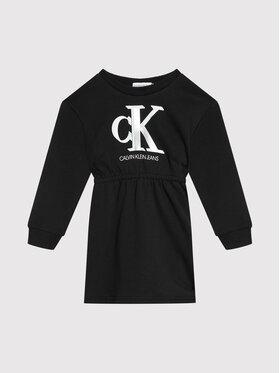 Calvin Klein Jeans Calvin Klein Jeans Sukienka codzienna Monogram IG0IG01028 Czarny Regular Fit