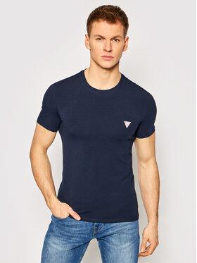Guess Guess T-Shirt M1RI24 J1311 Tmavomodrá Super Slim Fit