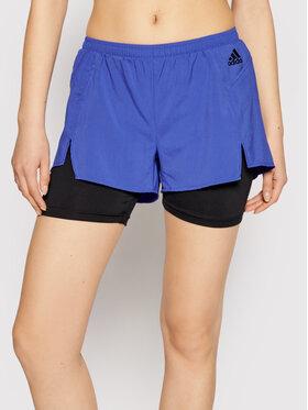adidas adidas Sportiniai šortai W 2in1 SHO GN6709 Violetinė Regular Fit