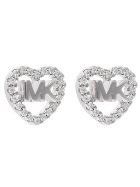 Michael Kors Michael Kors Naušnice Logo Heart Stud MKC1243AN040 Stříbrná