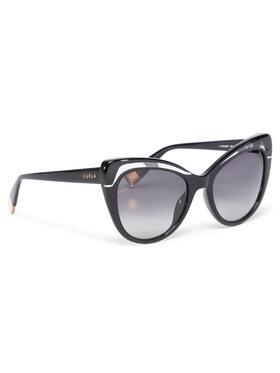 Furla Furla Okulary przeciwsłoneczne Sunglasses SFU405 405FFS9-RCR000-H7200-4-401-20-CN-D Czarny