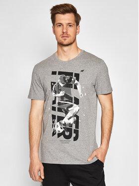 4F 4F T-Shirt H4L21-TSM011 Grau Regular Fit