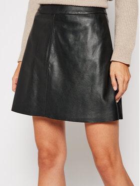 LaMarque LaMarque Kožená sukně 6303 Černá Regular Fit