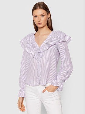 Vero Moda Vero Moda Chemise Puri Striped 10265958 Violet Regular Fit
