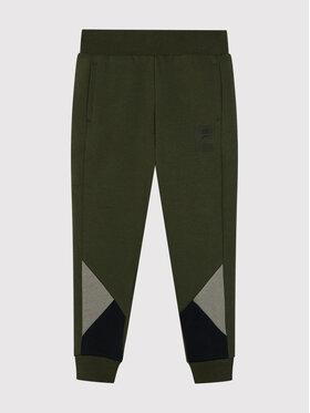 Puma Puma Teplákové kalhoty Rebel Block 583251 Zelená Regular Fit