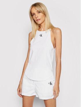 Calvin Klein Jeans Calvin Klein Jeans Top Organic Cotton Logo Cami J20J215633 Alb Slim Fit