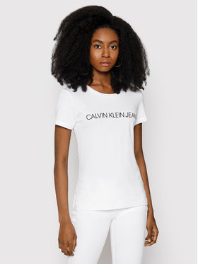 Calvin Klein Jeans Calvin Klein Jeans T-Shirt Institutional J20J207879 Bílá Regular Fit
