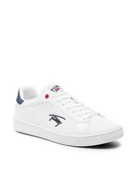 Tommy Jeans Tommy Jeans Sneakersy Cupsole Knit Tjm EM0EM00798 Biela