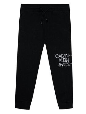 Calvin Klein Jeans Calvin Klein Jeans Pantaloni da tuta Hybrid Logo IB0IB00780 Nero Regular Fit