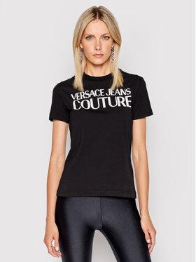 Versace Jeans Couture Versace Jeans Couture Tričko 71HAHF00 Čierna Regular Fit