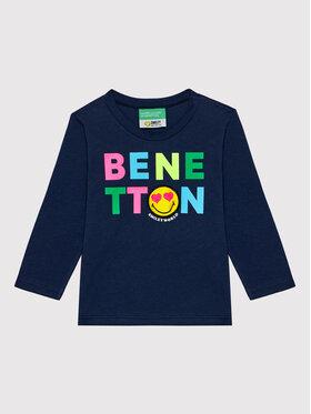United Colors Of Benetton United Colors Of Benetton Μπλουζάκι 3096C15E3 Σκούρο μπλε Regular Fit