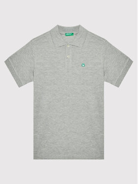 United Colors Of Benetton United Colors Of Benetton Polo 3089C3091 Szary Regular Fit