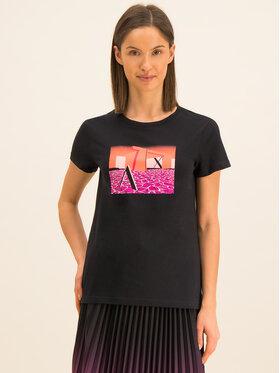 Armani Exchange Armani Exchange T-Shirt 3HYTAD YJ73Z 1200 Czarny Regular Fit