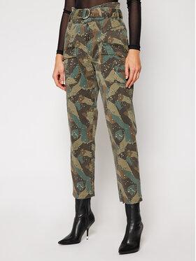 Guess Guess Kalhoty z materiálu W0BB05 W5DXR Zelená Relaxed Fit