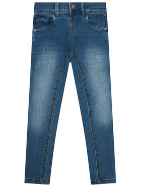 NAME IT NAME IT Jeansy 13172736 Granatowy Skinny Fit