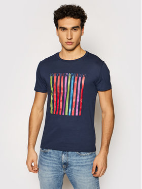 Emporio Armani Emporio Armani T-Shirt 211818 1P468 72435 Granatowy Regular Fit