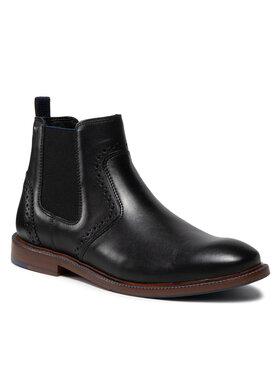 Wojas Wojas Kotníková obuv s elastickým prvkem 20010-51 Černá