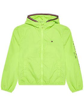 Tommy Hilfiger Tommy Hilfiger Kurtka przejściowa Essential Hooded Logo KB0KB06457 M Zielony Regular Fit