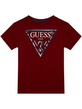Guess Guess Marškinėliai N73I55 K5M20 Bordinė Regular Fit
