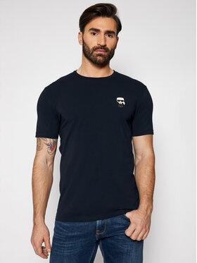 KARL LAGERFELD KARL LAGERFELD T-Shirt Crewneck 755025 511221 Granatowy Regular Fit