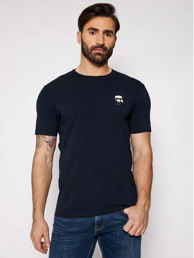 KARL LAGERFELD KARL LAGERFELD T-Shirt Crewneck 755025 511221 Tmavomodrá Regular Fit